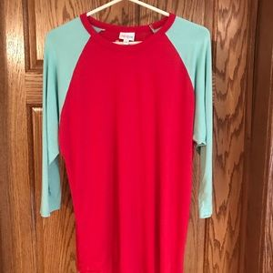 Red and Mint LuLaRoe Randy 2XL